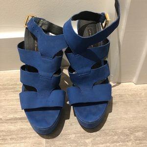 Steve Madden blue heels 8.5